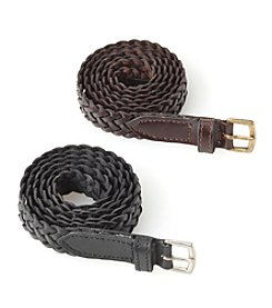 Fashion Focus Braided Genuine Leather Belt