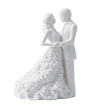 Waterford® Monique Lhuillier® Modern Love Bride & Groom Cake Topper