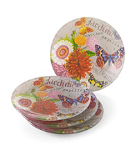 Crystal Clear® Notions Bouquet De Fleur Set of 4 Salad Plates