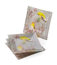 Crystal Clear® Notions Goldfinch Set of 4 Salad Plates