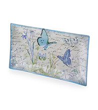 Crystal Clear® Notions Blue Butterfly Tray