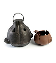 Charcoal Companion Cast Iron Garlic Roaster and Squeezer Set