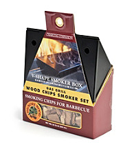 Charcoal Companion Non-Stick Gas Grill V-Smoker Box Set with Chips