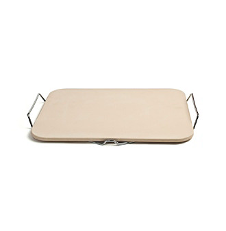 Charcoal Companion Rectangle Pizza Stone with Wire Frame