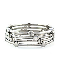 Vince Camuto™ Polished Silvertone Set of Four Bangle Bracelets