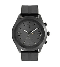 Unlisted by Kenneth Cole® Men's Black Silicon Strap Watch
