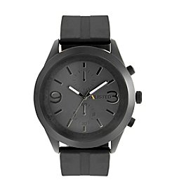 Unlisted by Kenneth Cole® Men's Black Silicone Strap Watch