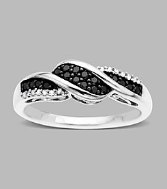 .22 ct. t.w. Black and White Diamond Sterling Silver Ring