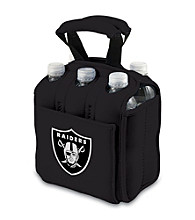 Picnic Time® NFL® Oakland Raiders Six Pack Digital Print Insulated Holder