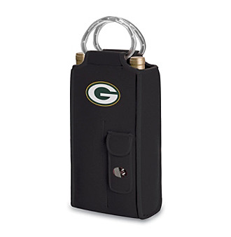 Picnic Time® NFL® Green Bay Packers Brunello Digital Print Insulated Two-Bottle Wine Tote