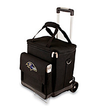 Picnic Time® NFL® Baltimore Ravens Cellar with Trolley Digital Print Insulated Tote/Cooler