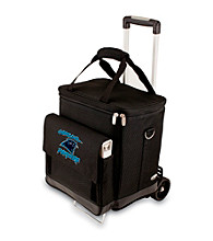 Picnic Time® Carolina Panthers Black Cellar with Trolley Wine Cooler