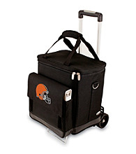 Picnic Time® NFL® Cleveland Browns Cellar with Trolley Digital Print Insulated Tote/Cooler
