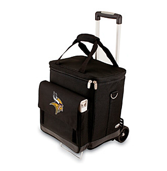 Picnic Time® NFL® Minnesota Vikings Cellar with Trolley Digital Print Insulated Tote/Cooler