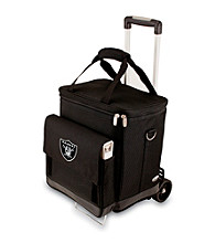 Picnic Time® NFL® Oakland Raiders Cellar with Trolley Digital Print Insulated Tote/Cooler