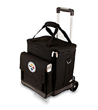Picnic Time® NFL® Pittsburgh Steelers Cellar with Trolley Digital Print Insulated Tote/Cooler
