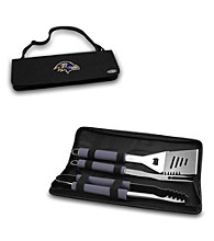 Picnic Time® NFL® Black Metro BBQ Tote - Baltimore Ravens Digital Print