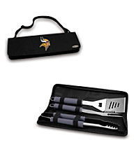 Picnic Time® NFL® Black Metro BBQ Tote - Minnesota Vikings Digital Print