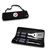 Picnic Time® NFL® Black Metro BBQ Tote - Pittsburgh Steelers Digital Print