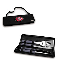 Picnic Time® NFL® Black Metro BBQ Tote - San Francisco 49ers Digital Print