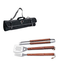 Picnic Time® NFL® 3-pc. Black BBQ Tote - Atlanta Falcons Digital Print