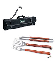 Picnic Time® NFL® 3-pc. Black BBQ Tote - New York Jets Digital Print