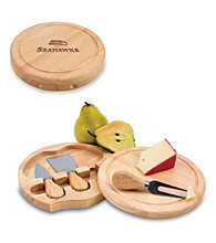 Picnic Time® NFL® Brie Cutting Board - Seattle Seahawks Engraved