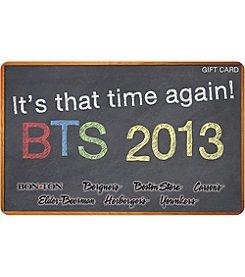 Gift Card - Back To School Chalk Board