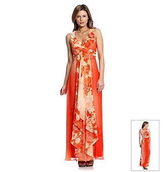 Floral Maxi Dress on Women Dresses Daytime Dresses Vince Camuto Shaded Floral Maxi Dress