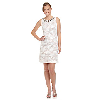 Jessica Howard Women's Plus-Size Long Sleeve Shift Dress