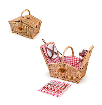 Picnic Time® Oakland Raiders Piccadilly Picnic Basket