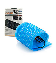 Trademark Global Roll-up Portable Flexible Waterproof USB Keyboard