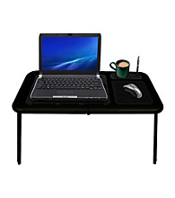 Laptop Buddy™ Black Portable WorkStation Table with Dual Cooling Fan