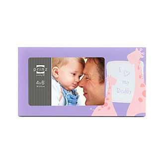 "Prinz® ""I Love My Daddy"" 4x6"" Purple Picture Frame"