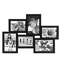 Malden 6-Opening Black Wood Picture Frame