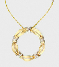 Effy® .10 ct. t.w. Diamond and 14K Yellow Gold Circle Pendant