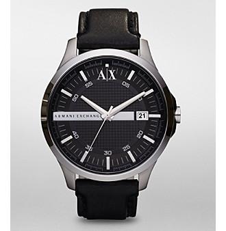 A X Armani Exchange Men's Black Dial Watch