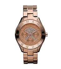 A|X Armani Exchange Women's Rose Goldtone Glitz Watch