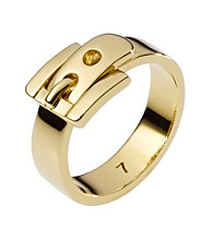 Michael Kors® Goldtone Medium Buckle Ring