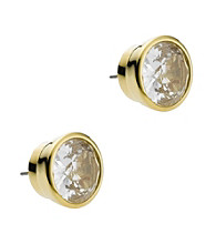 Michael Kors® Goldtone Clear Stone Medium Stud Earrings