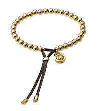 Michael Kors® Goldtone Beaded Stretch Bracelet