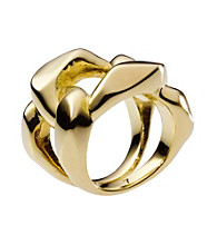 Michael Kors® Goldtone Frozen Chain Ring