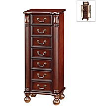Acme Lopez Cherry Finish Jewelry Armoire