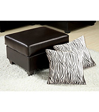 Acme Vogue Ottoman with Two Pillows