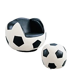 Acme All-Star Soccer Swivel Chair & Ottoman Set