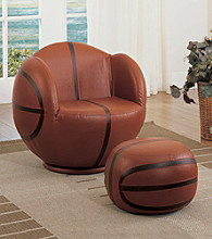 Acme All Star Basketball Swivel Chair & Ottoman Set