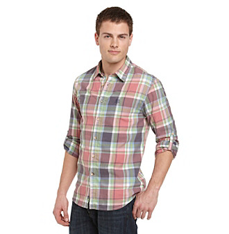 Guess Men's Sol Pink Eden Woven Shirt