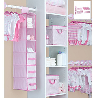 Delta Pink 48-pc. Nursery Closet Set