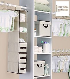 Delta Beige 48-pc. Nursery Storage Set