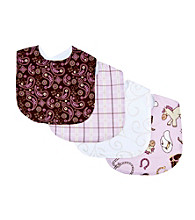 Trend Lab Rodeo Princess 4-pack Bib Set